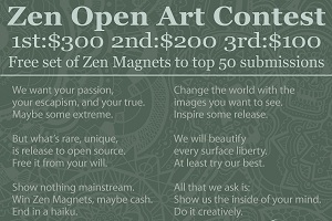 6: The Zen Open Art Contest.